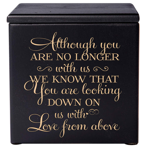 Cremation Urns for Human ashes - Funeral Urn small Keepsake box for Pets - Memorial Gift for home or Niche Columbarium Although you are no longer with us by LifeSong Milestones (Black)