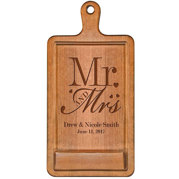 Personalized Cherry iPad Cook book Recipe holder with stand under counter for Kitchen with Mr & Mrs Wedding Gift ideas for Him Her Couple by LifeSong Milestones