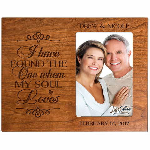 Personalized Valentine's Day Photo Frame - I Have Found The One Cherry