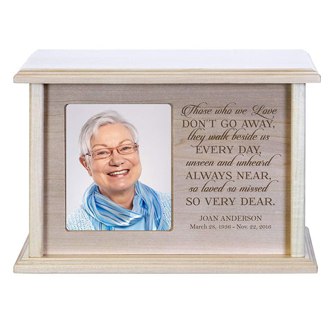 Personalized Maple Adult Human Cremation Urn - Those Who We Love