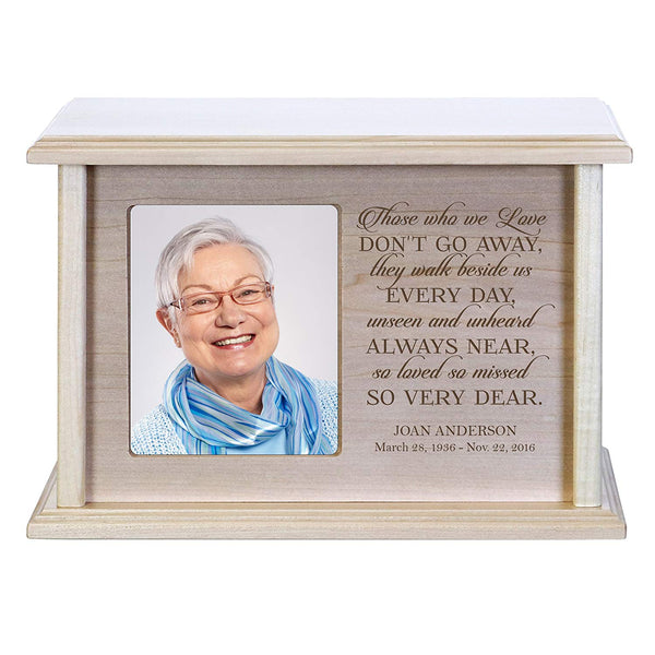 Cremation Urns for Human Ashes Memorial Keepsake box for cremains, personalized Urn for adults and children ashes Those who we love DON'T GO AWAY SMALL portion of ashes holds 4x6 photo holds