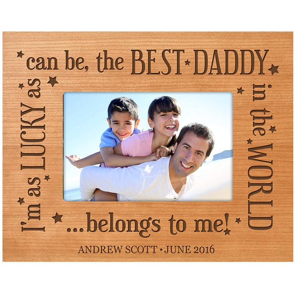 Personalized Gifts for dad Engraved birthday gifts for dad Custom picture frame Best Daddy in the World Belongs to Me