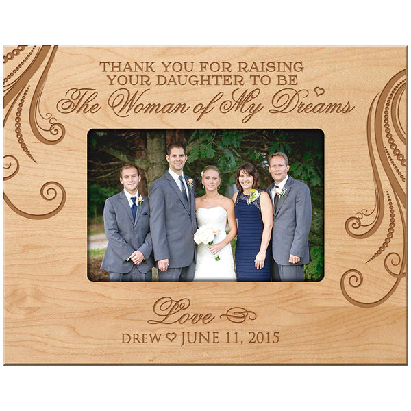 Personalized Wedding Photo Frame - Thank You for Raising Your Daughter