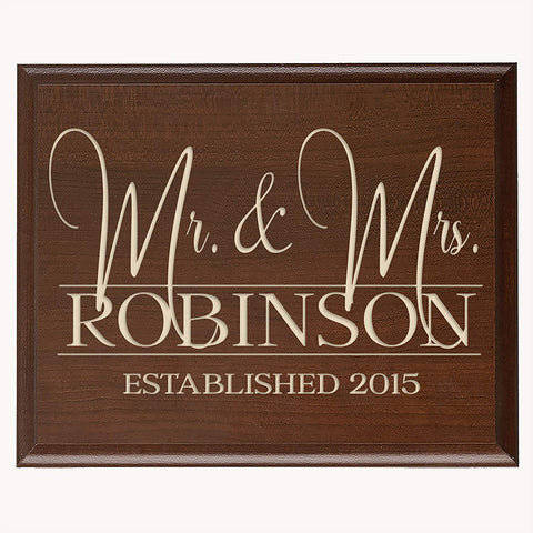 Personalized Wedding Wall Plaque Gift