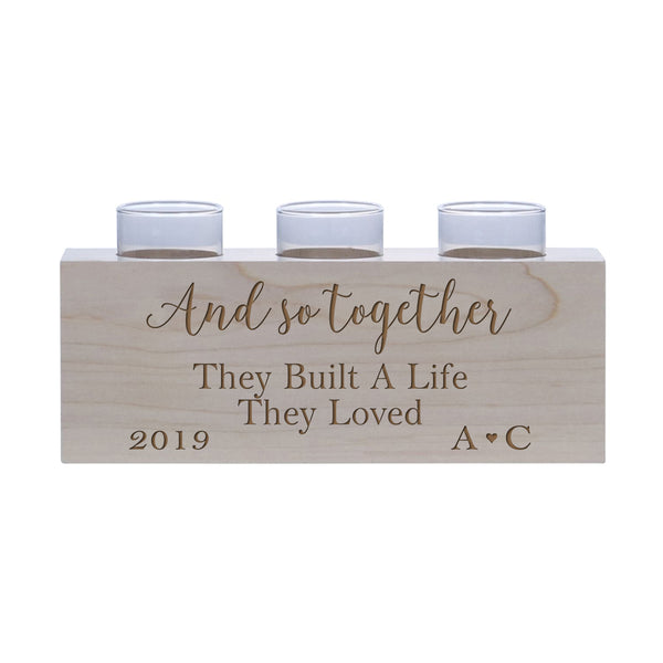 Gifts For Him Her Special Man Women Candle Holder Best Friend Parents Family Marriage Celebration Valentines Day Romance Lover Fiance Sweetheart Spouse Custom Boyfriend Girlfriend Engagement Decoration Decor Living Room Bedroom Mr Mrs Grandparents