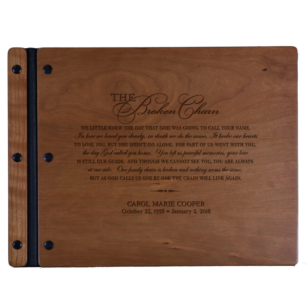 Personalized Memorial Guest Book - Broken Chain – LifeSong