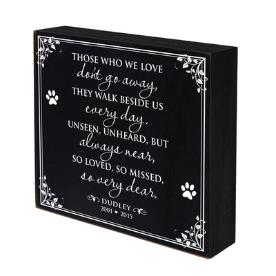 "Lifesong Milestones Memorial Shadow Box Those Who We Love Bereavement Keepsake box Loss of Loved One Sympathy Wall Art Decor - 6"" x  6"""
