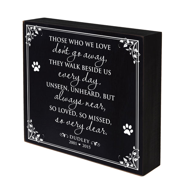 "Lifesong Milestones Memorial Shadow Box Those Who We Love Bereavement Keepsake box Loss of Loved One Sympathy Wall Art Decor - 10"" x  10"""