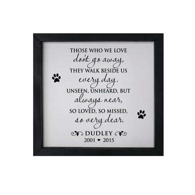 "Lifesong Milestones Memorial Framed Shadow Box Those Who We Love Bereavement Keepsake box Loss of Loved One Sympathy Wall Art Decor - 11.5"" x  11.5"""