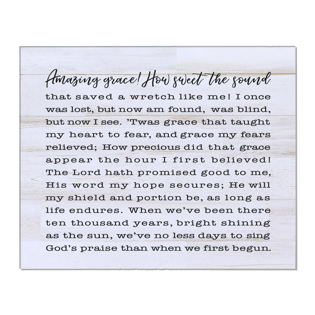 image about Amazing Grace Lyrics Printable identified as Unbelievable Grace Songs Lyrics Wall Artwork - 8x10 Ornamental Plaque