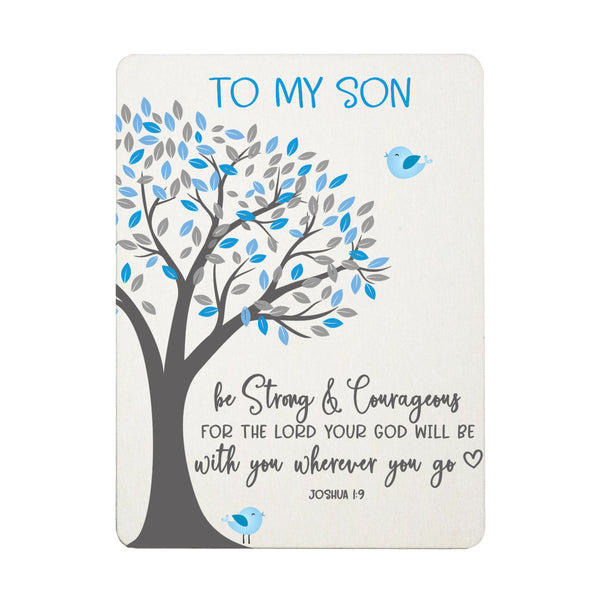 Newborn Baby Scripture Magnet for Fridge - Strong & Courageous