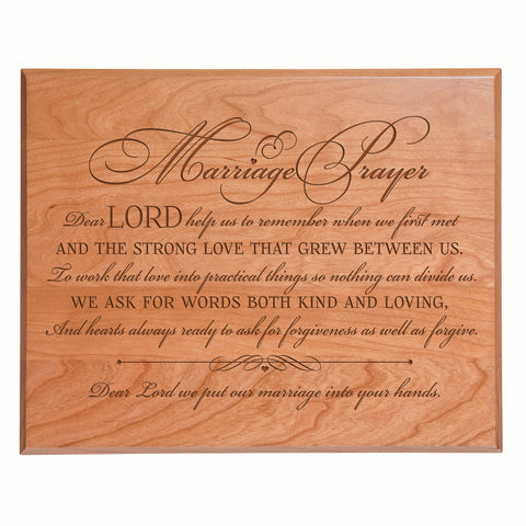 "LifeSong Milestones Engraved Wedding Sign For Ceremony And Reception - Marriage Decorations - Gifts For The Couple 12"" x 15"""