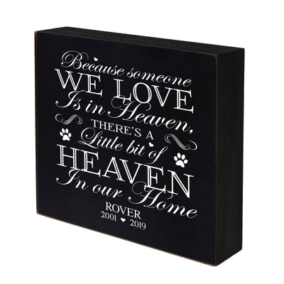 "Lifesong Milestones Pet Memorial Shadow Box Because Someone We Love Keepsake Loss of Loved One Sympathy Wall Art - 6"" x 6"""