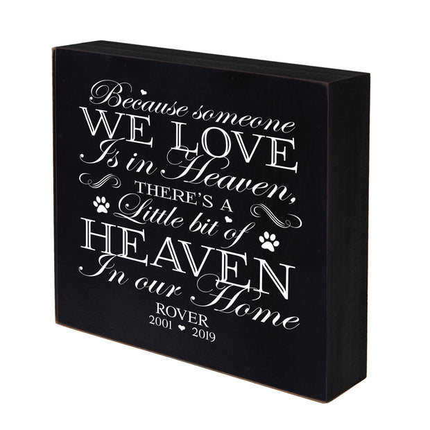"Lifesong Milestones Pet Memorial Shadow Box Because Someone We Love Keepsake Loss of Loved One Sympathy Wall Art - 10"" x 10"""