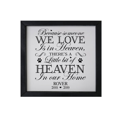 "Lifesong Milestones Pet Memorial Framed Shadow Box Because Someone We Love Keepsake Loss of Loved One Sympathy Wall Art - 11.5"" x 11.5"""