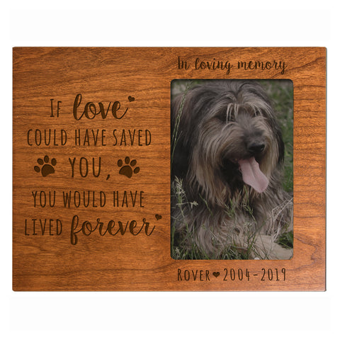 "LifeSong Milestones Personalized Memorial Dog Photo Frame Message Quotes Gift for Loss of loved pet- Bereavement Sympathy Memorial Picture Frame- 8""x10"" Holds 4""x6"" Photo"