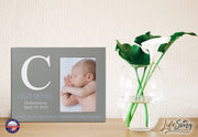 Baby Birth Announcement Photo Frame For Boys and Girls Psalm 139:14