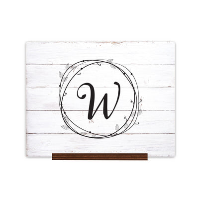 "Custom Wedding Guestbook Sign w/ Stand 15"" x 12"" - W"