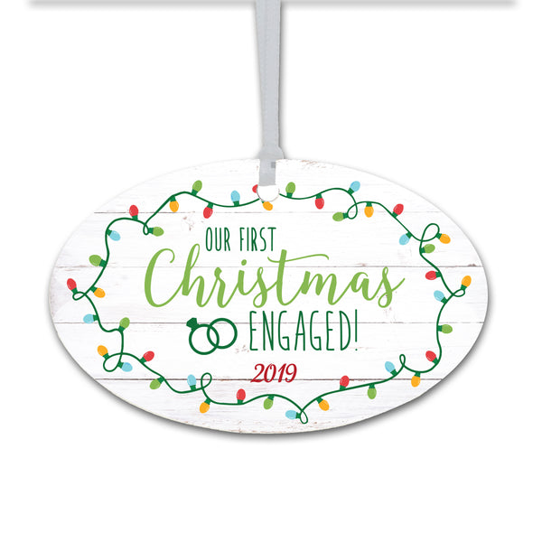 Lifesong Milestones Personalized Engagement Merry Christmas Tree Ornament Decorating Ideas - Christmas Tree Decoration Gift Ideas
