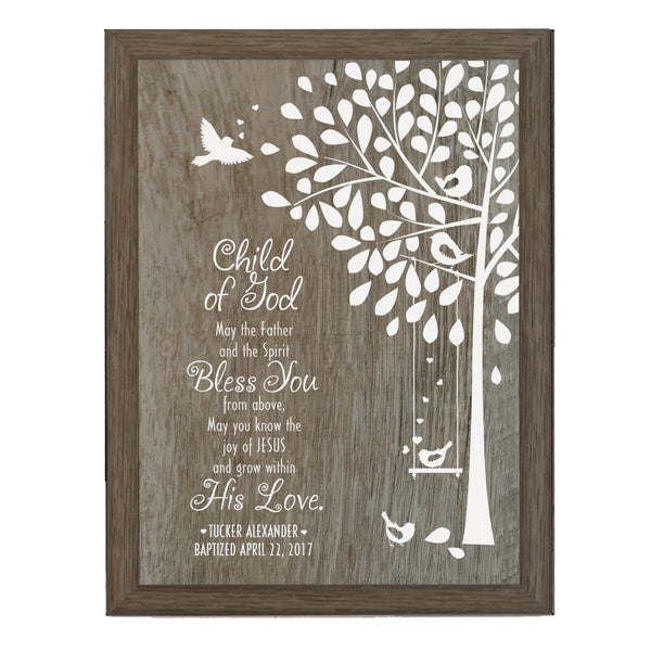 "LifeSong Milestones Personalized Baptism Godchild Tree Project Christening gifts for Godmother from Godchild Godson Goddaughter 6"" x 8"""