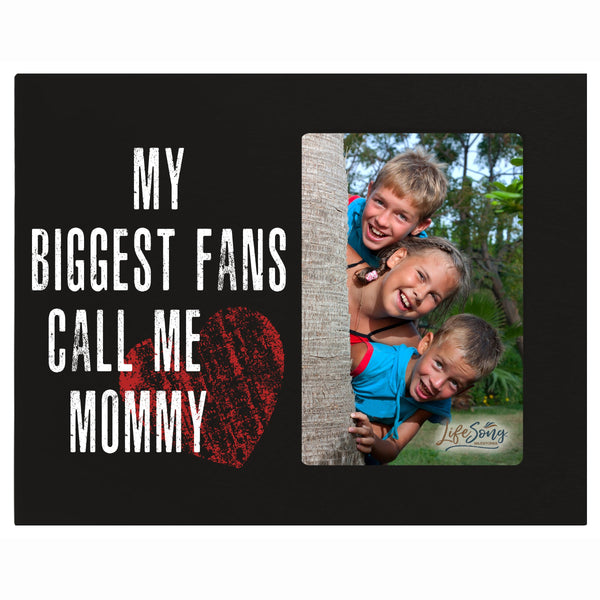 "LifeSong Milestones My Biggest Fans Call Me - Photo Frame Gift for Grandmother, Grammy, Mom - Photo Frame 8"" x 10"" Holds 4"" x 6"" Photo"