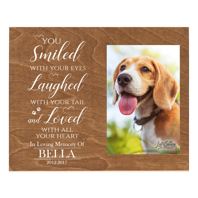 "LifeSong Milestones Words of Condolences Wall Art - Message Quotes for Loss of a Pet with Your Custom Photo Print on Wood - Bereavement Sympathy Memorial Plaque 8"" x 10"""