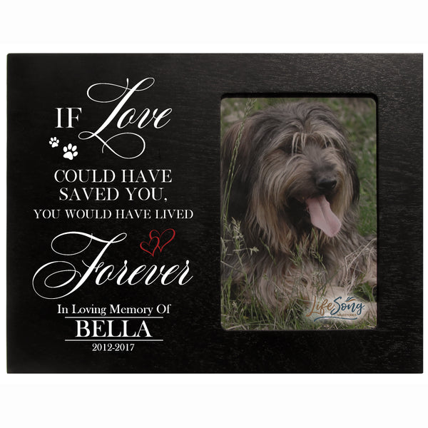 "LifeSong Milestones  Words of Condolences Photo Frame - Message Quotes for Loss of a Pet Picture Frame - Bereavement Sympathy Memorial Sympathy Frame 8"" x 10"""
