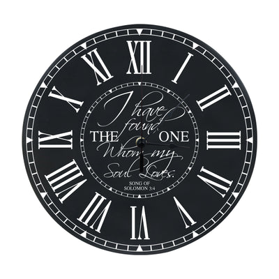 LifeSong Milestones Everyday Family Wall or Desktop Clock for Living Room, Bedroom, Kitchen, Office, New Home, Couples Gift 12 Inch Diameter