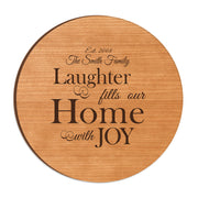 LifeSong Milestones Personalized Wood Lazy Susan Turntable Everyday Design and Family Ideas 12 Inch Custom Engraved Decorative Serving Centerpiece