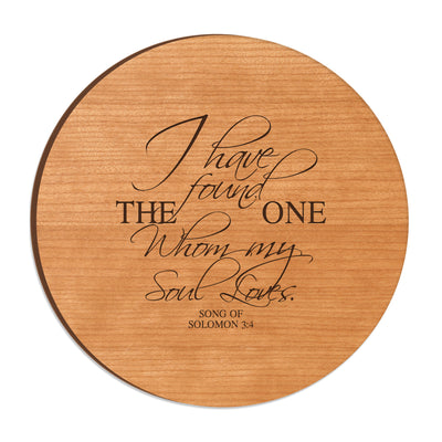 LifeSong Milestones Wood Lazy Susan Turntable Everyday Design and Family Ideas 12 Inch Engraved Decorative Serving Centerpiece