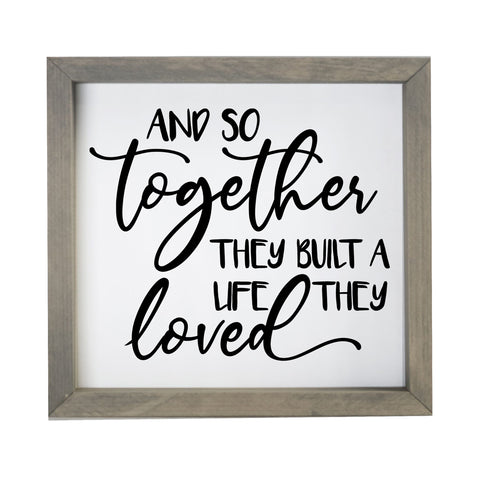 "LifeSong Milestones Home Inspirational Framed Shadow Box And So Together for Parents, Couples Christian Wall Decor for Husband, Wife Housewarming Gift Table and Shelf Sitters 11""x11""x2"""