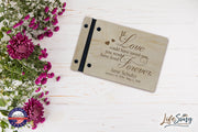 "Lifesong Milestones Funeral Guest Book Personalized Wooden Memorial Guestbook Celebration of Life Guest Book Remembrance In Loving Memory Keepsake 9.375"" x 6"" x .75"" - If Love Could Have Saved You"