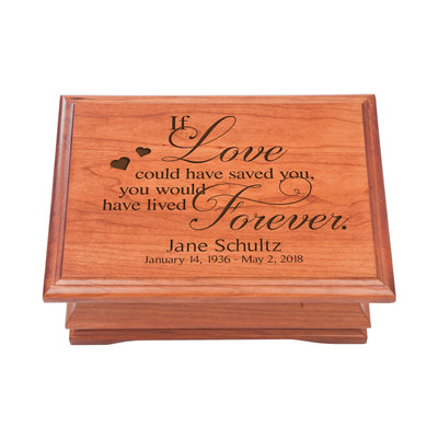 Lifesong Milestones Funeral Jewelry Box Personalized Wooden Memorial Jewelry Box Celebration of Life Guest Book Remembrance In Loving Memory Keepsake