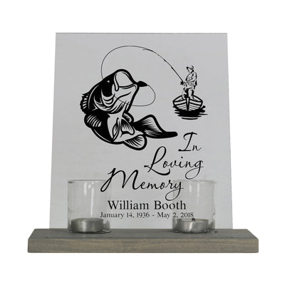 "LifeSong Milestones Personalized Memorial Funeral Candle Holder Holder Loss of Loved Ones 8""x10"" Acrylic Bereavement Sign with Wood Base 8"" x 10"""