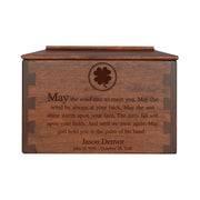"LifeSong Milestones Personalized Small Cherry Dovetail Wooden Urn for Pet Ashes Urn Keepsake Box 7.75"" x 4.75"" x 4.75"""