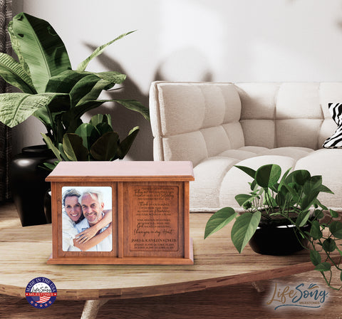 "LifeSong Milestones Personalized Companion Urns for Adult Human Ashes Double Keepsake Urn Box for 2- Family Housewarming Gift - 14.25"" x 8.75"" x 10.5"""