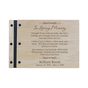 "Lifesong Milestones Funeral Guest Book Personalized Wooden Memorial Guestbook Celebration of Life Guest Book Remembrance In Loving Memory Keepsake 12.375"" x 8.5"" x .75""-In Loving Memory 4"