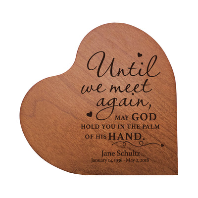 "Lifesong Milestones Personalized Engraved Memorial Heart Block (verse) 5"" x 5.75"" x 0.75"" Solid Wood Home Decor Bereavement Gift Keepsake for Loss of Loved One."