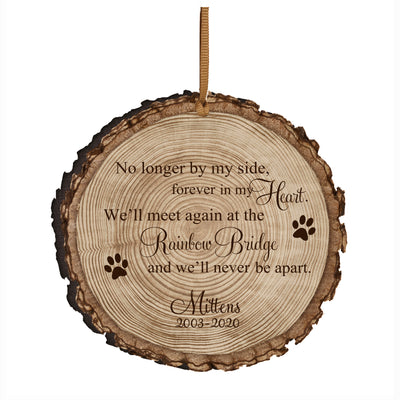 LifeSong Milestones Personalized Memorial Ornament No Longer By My Side Bereavement Keepsake Ornament Loss of Loved One Sympathy Home Decor