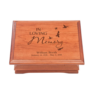 Personalized Wooden Memorial Jewelry Box Organizer 11.5x8.25 – In Loving Memory
