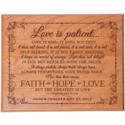 plaque love is patient wedding anniversary gift
