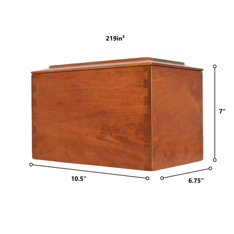 Custom Wooden Cremation Urn Box Large for Human Ashes holds 291 cu in It Broke Our Hearts