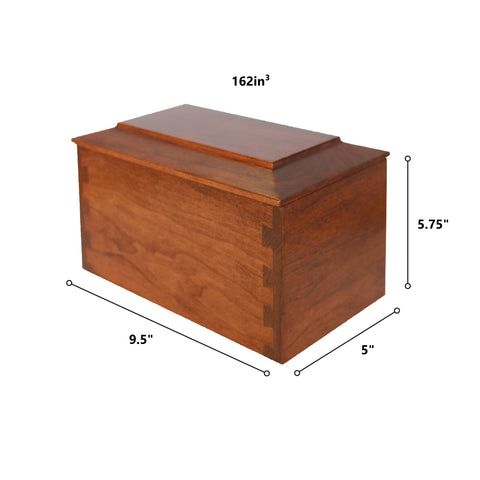 Custom Wooden Cremation Urn Box Medium for Human Ashes holds 162 cu in The Broken Chain 2