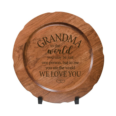 LifeSong Milestones Wooden Decorative Plate Family Keepsake 12in Grandma  Housewarming Mother's Day Gift Home Wall Decor Kitchen Keepsake