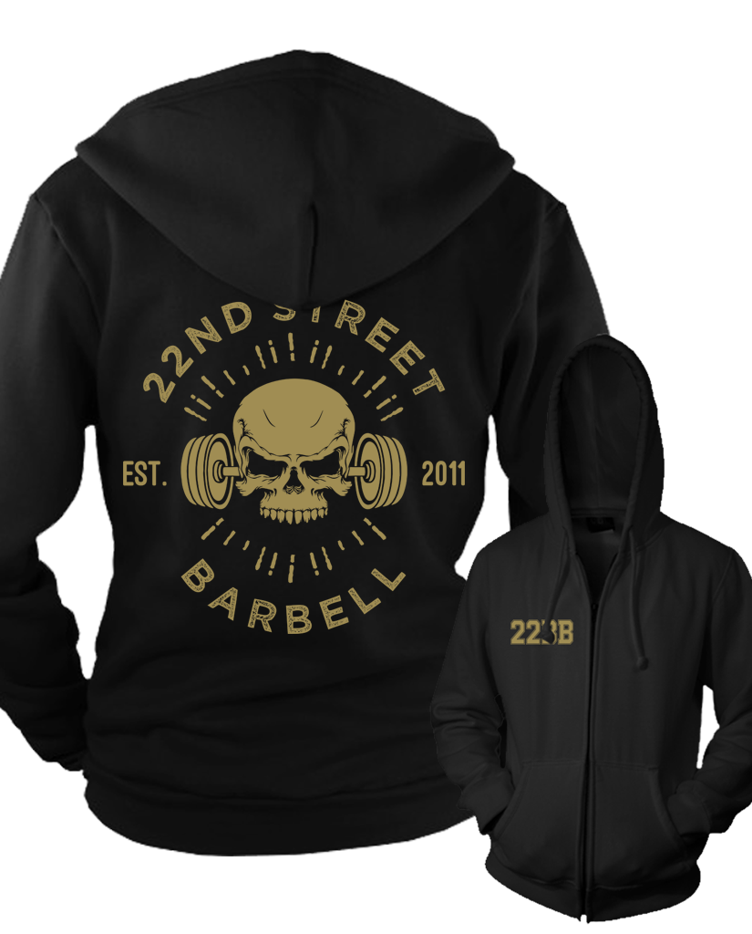 "22BB ""GOLD SKULL"" Zip Up Hoodie"