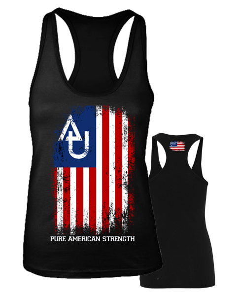 "Athletics United "" AMERICAN STRENGTH"" Racerback"