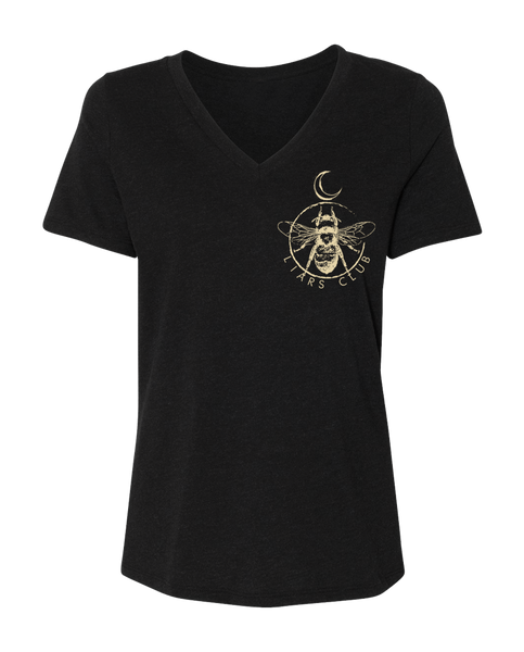 "Liars Club ""QUEEN BEE"" V-Neck Tee"