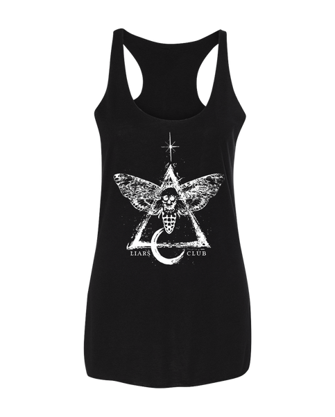 "Liars Club ""MOTH"" Racerback"