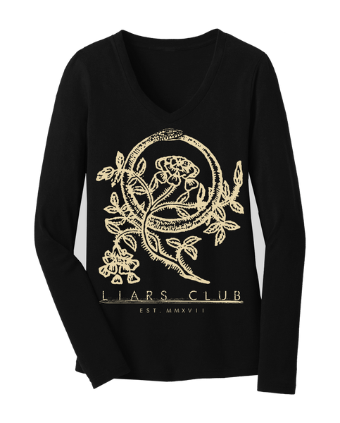 "Liars Club ""OROUBOUS"" Long Sleeve V-Neck"