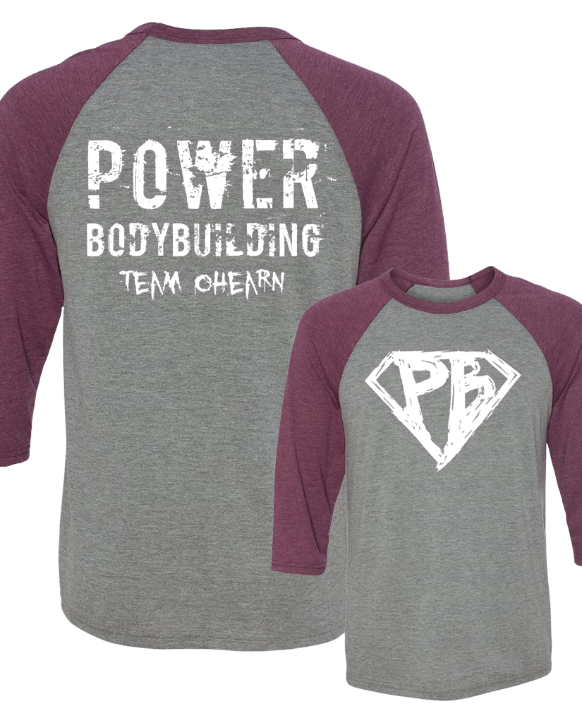 "OHEARN ""POWER BODYBUILDING"" Raglan"